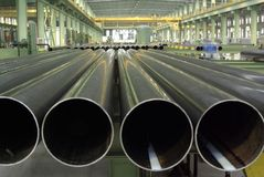 Pipes longitudinales Images stock