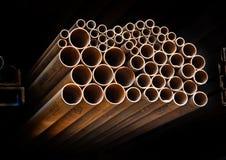 Pipes métalliques image libre de droits