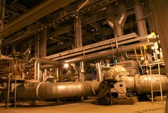 Pipes, machinery, tubes and pumps Stock Photos