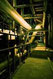 Pipes, machinery, tubes and turbine Stock Image