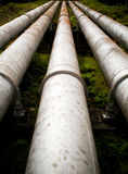 Pipes massives Images stock