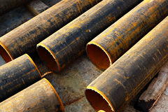 Pipes metal Royalty Free Stock Images