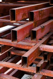Pipes metal square section Royalty Free Stock Images