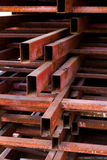 Pipes metal square section Stock Photo