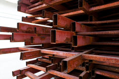 Pipes metal square section Royalty Free Stock Photos