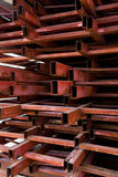 Pipes metal square section Royalty Free Stock Photo