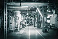 Pipes in a modern thermal power station Stock Photography