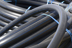 Pipes new flexible  plastic Stock Image