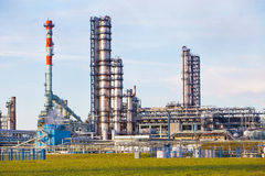 Pipes of oil factory royalty free stock photography