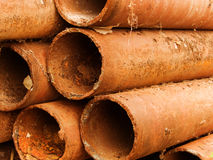 Pipes the old rusty Royalty Free Stock Photography