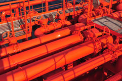 Free Pipes On The Deck Of The Tanker Royalty Free Stock Photos - 8234328