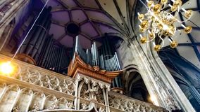 Pipes of the organ royalty free stock photography