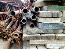Pipes and planks Stock Image