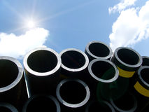 Pipes plastic royalty free stock photos