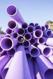 Pipes Plastic Construction Royalty Free Stock Photos