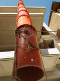 Pipes plastic like snake to transport aggregate  materials from. Building in construction process Stock Images