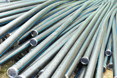 pipes plastic vatten Arkivbilder