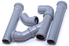 Pipes from polyethylene of low pressure Royalty Free Stock Photography