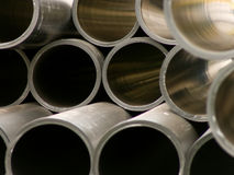 Pipes polymeric water round section Royalty Free Stock Images