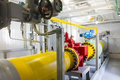 Pipes of power plant. Pipes of thermal power plant Stock Images