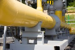 Pipes of power plant. Pipes of thermal power plant Royalty Free Stock Photos