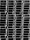 Pipes  rectangular  section Royalty Free Stock Photography