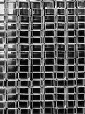 Pipes  rectangular  section Royalty Free Stock Photos