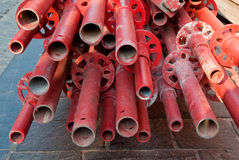 pipes red Royaltyfria Foton