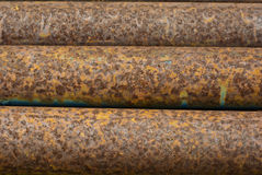 pipes rostigt stål Royaltyfri Fotografi