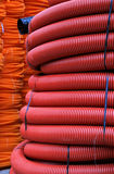 Pipes rouges Photos stock