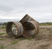 Pipes rouillées 2 en métal Image libre de droits
