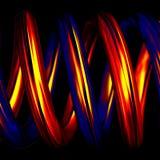 Pipes spiralées chaudes et froides dans 3D. Images libres de droits