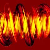 Pipes spiralées jaunes dans 3D. Images stock