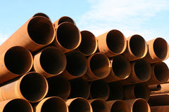 pipes stål Royaltyfria Bilder