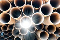 pipes stål Arkivfoton
