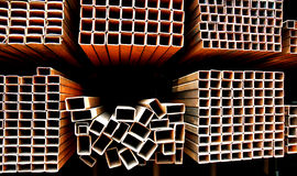 pipes stål Arkivbilder