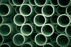 Pipes. A stack of pipes on a construction site Stock Photos