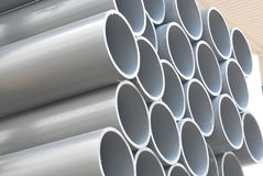 Pipes. A stack of large pipes for industrial applications Royalty Free Stock Photos