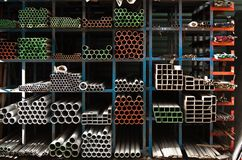 Pipes stacked up Stock Photos