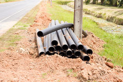 Pipes synthetic pipeline Stock Image
