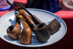 Pipes for tobacco smoking Royalty Free Stock Photos