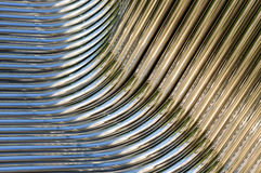 Pipes tordues de chrome Photos stock
