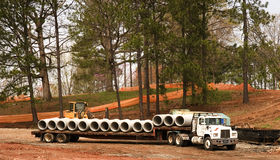 Pipes on a Truck Stock Image