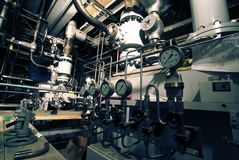 Pipes, tubes, gauges Stock Images