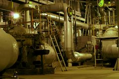 Pipes, tubes and machinery royalty free stock photos