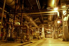 Pipes, tubes and machinery Stock Photo