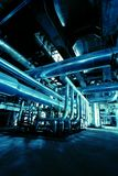 Pipes, Tubes, Machinery And Steam Turbine Royalty Free Stock Photography
