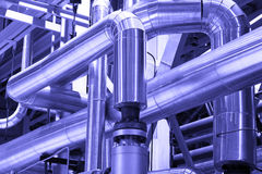 Pipes,tubes,machinery,equipment industrial power Royalty Free Stock Photography