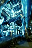 Pipes, tubes, machinery at a power plant Stock Photo