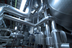 Pipes, tubes, machinery steam turbine Royalty Free Stock Photos